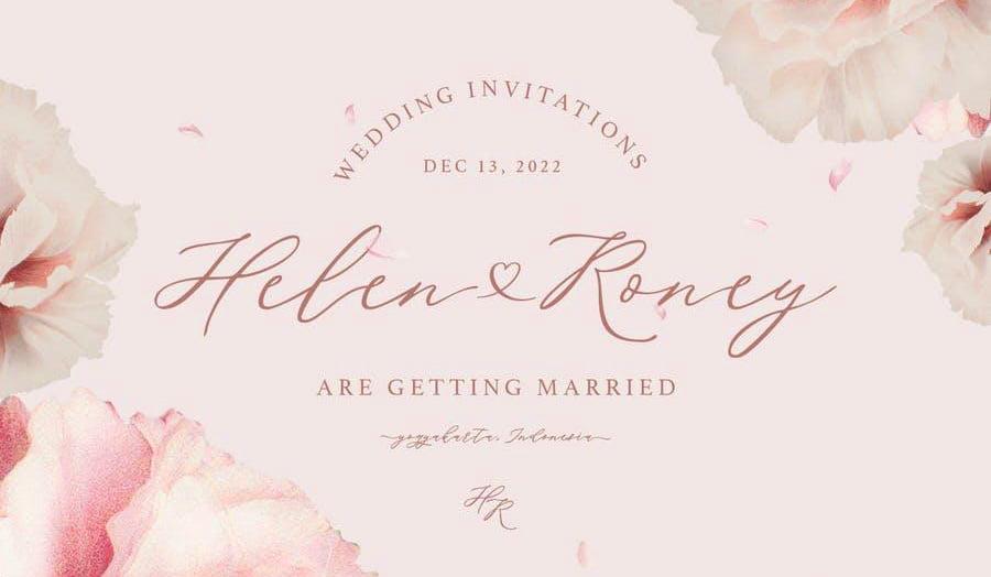 Font Wedding