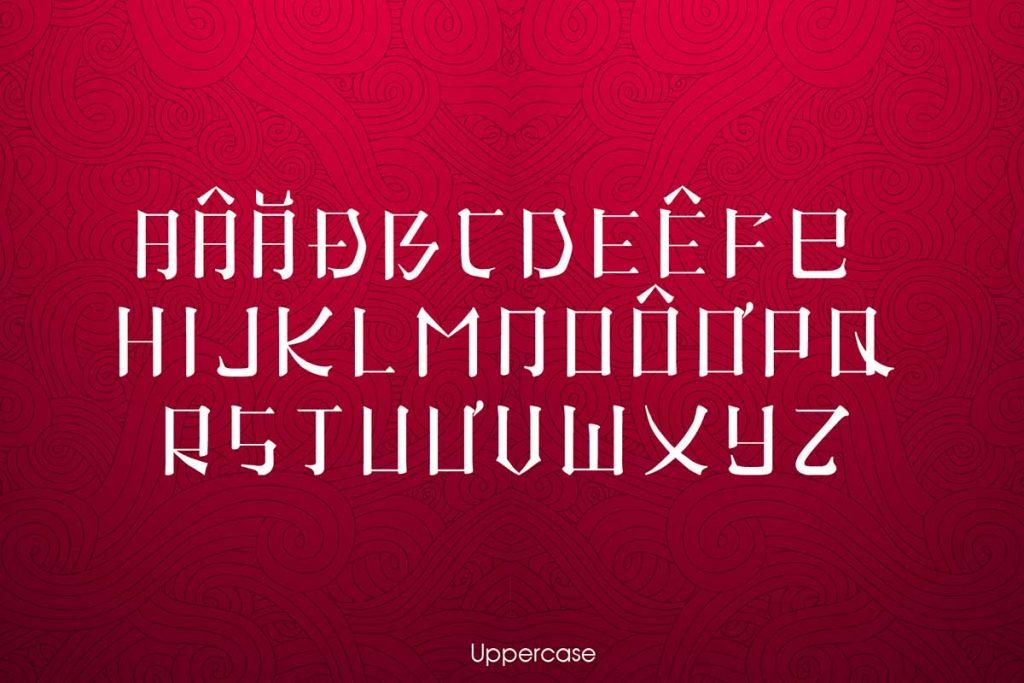 font chữ cổ xưa
