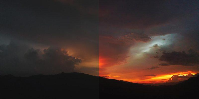 Trước và sau khi chỉnh màu cho video